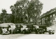 Düsterstraße 17 Lastkraftwagen der Speditionsfirma Heinrich Schütte -  Fotografie 1952