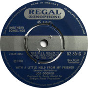With A Little Help From My Friends/Something's Coming On Regal Zonophone RZ 3013 1968