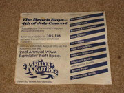 The Beach Boys 4th of July Concert flyer (courtesy of RO member Midnight Toker)