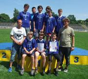 1. Platz Mittelschule Lengefeld, Regionalfinale Leichtathletik, WK IV männlich 19.06.12