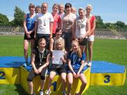 1. Platz Gymnasium Olbernhau, Regionalfinale Leichtathletik, WK II weiblich 19.06.12