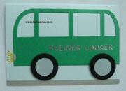Geburtstagskarte für einen Omnibus-Fan