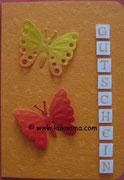 Gutschein mit Schmetterlingen