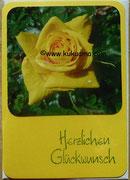 Rose am Bodensee, Geburtstagskarte