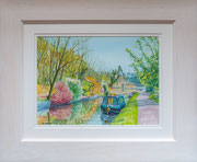 """View to the Iron Works""  £125  38.5 x 46 cms approx outside frame measurement"