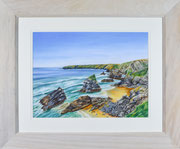 """ Bedruthan Steps"" £175  51 x 61 cms approx outside frame measurement"