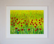 """""""Fresh Fields"""" £125    45.5 x 38 cms approx outside frame measurement"""