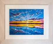 """Sunburst""  £350  61 x 51 cms approx outside frame measurement"