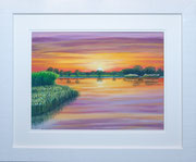 """""""Tranquil Waters""""  £325 48 x 58 cms approx outside frame measurement"""