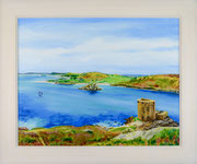 """Cromwell Castle, Tresco"" £250  50.5 x 60.5 cms approx outside frame Measurement"