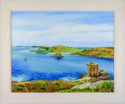 """Cromwell Castle, Tresco"" £250  50.5 x 60.5 cms approx outside frame Measurement"