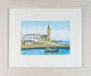 """Porthleven""  £175  51 x 61 cms approx outside frame measurement"