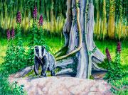 """Early Riser"" Hemplow Hills £165  16 x 12 inch cradled board"