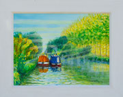 """""""Misty Morn""""  £150 50 x 40 cms approx outside frame measurement"""