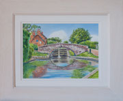 """Sandiacre Lock""  £125 38 x 45.5 cms approx outside frame measurement"