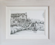 """Minshull Lock"" £125    45.5 x 38 cms approx outside frame measurement"