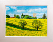"""""""View from the Grand Union"""" £150 51 x 41 cms approx outside frame measurement"""