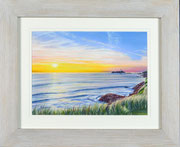 """""""Godrevy Sunset"""" £95  35.5 x 43 cms approx outside frame measurement"""