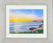 """Godrevy Sunset"" £125 14 x 11 inch plus frame width"