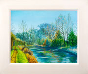 """""""Bright Winters Day"""" Market Harborough Arm  £150 51 x 41 cms approx outside frame measurement"""