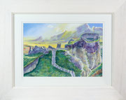 Tintagel Castle £125 40 x 50 cms approx outside frame measurement