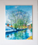 """Frozen"" Market Harborough Arm £125    45.5 x 38 cms approx outside frame measurement"