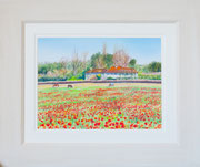 """""""Bourne End""""  £125 38 x 45.5 cms approx outside frame measurement"""