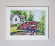 Tattenhill Lock £125 38 x 45.5 cms approx outside frame measurement