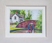 Tattenhill Lock £125 38 x 45.5 cms approx outside frame measurement