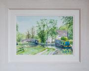 """Top of Tattenhill Lock""  £150 16 x 12 inch plus frame width"