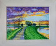 """""""Fisherman's Retreat"""" Acrylic £125  14 x 11 inch plus frame width"""