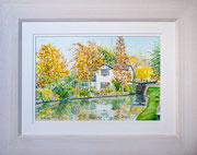  Autumn on the Aylesbury Arm £150 51 x 41 cms approx outside frame measurement