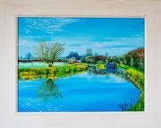 """Turning Point"" Acrylic £175  16 x 12 inch plus frame width"