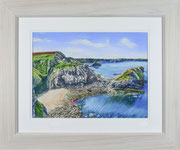 """Smugglers Cove"" £225  51 x 61 cms approx outside frame measurement"