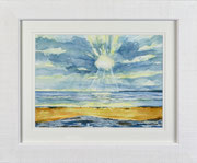 """Marazion Beach"" £75  35.5 x 43 cms approx outside frame measurement"