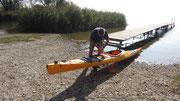 Vorbereitung des Seekajak