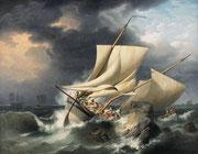 Louis Philippe Crépin, Scène de naufrage, Scène de naufrage, vers 1800, Huile sur toile