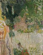 Pierre Bonnard, Le pommier fleuri ou Le balcon à Vernonnet, vers 1920, huile sur toile.