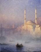 Ivan Aïvazovski, Constantinople, la Mosquée de Top-Kahné, 1884, huile sur toile.