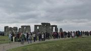Samstag: Stonehenge mit seiner Megalith-Anlage aus der Jungsteinzeit