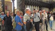 Freitag: Führung durch die Kathedrale von unserer Reiseleiterin.