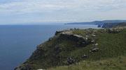 Dienstag: Die Burgruine Tintagel bietet einen herrlichen Ausblick auf das Meer.