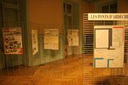 Une partie de l'exposition sur les ponts en Ardèche