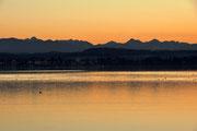 Starnberger See Blick nach Seeshaupt Januar 2011