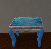 Table de salon turquoise