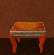 Table de salon orange