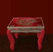 Table de salon rouge