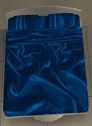 Draps satin bleu nuit