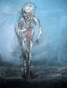 """acrylique sur toile (""""L'homme blessé"""")"""