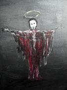 Le prêcheur poussiéreux (acrylique sur toile, 32x40cm)